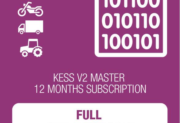 12 месечен абонамент за KESSv2 с пакет протоколи - Master