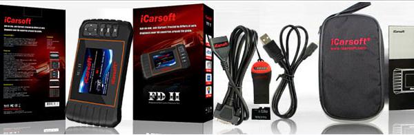СКЕНЕР ЗА ДИАГНОСТИКА НА FORD FD II (USA/EU/AUS), iCarsoft