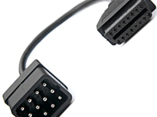 Преходник за Reanult - 12 pin към OBD II 16 pin, съвместим с Autocom / Delphi