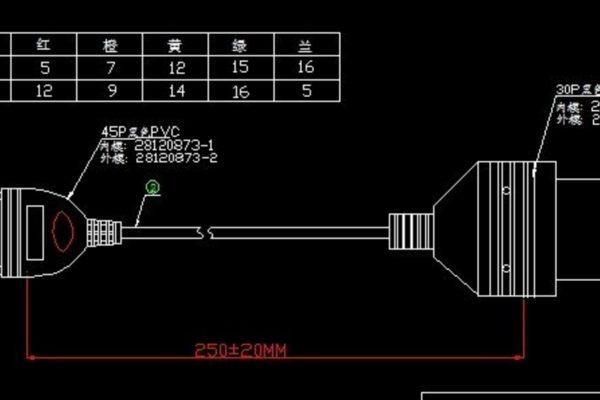 Преходник за KIA - 20 pin към 16 pin OBDII