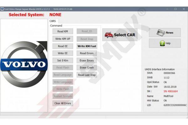 Volvo change KM by OBD (VOP1), SMOK