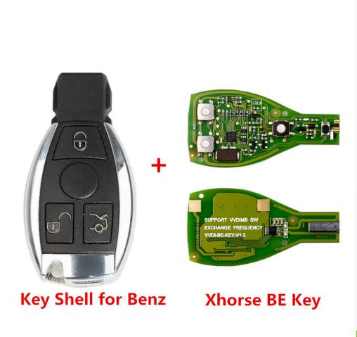 VVDI IR ключ за Mercedes Benz с 3 бутона 433/315MHz